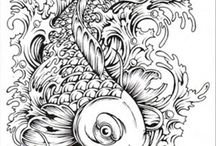 Printables: Coloring (Misc) / Coloring pages for those who want some hard work. Themes: zentangles, other anti-stress and therapy coloring pages etc.