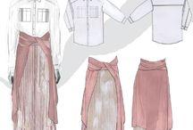 Fashion Flat Drawings, Illustrations