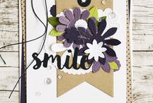 Cards - MFT / Stitchted flowers