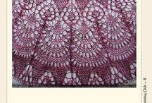 Шали, шарфы спицами / Здесь можно найти шарфы и палантины, шали и косынки связанные спицами, а также узоры для этих изделий.