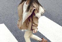 little girl in fur