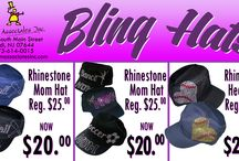Bling / Bling it up Girly Girls. All of our Bling is made out of Rhinestones plus we have Glitter. All manufactured right here at our store & designed in the USA!!! We are located in Lodi NJ. We have dressing rooms so you don't have to wait for an online order wondering if it will be the right size or not. Or to find out that you can't return it even if it doesn't fit!!!!