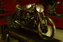 café racer ,manx ,norton ,sculpture Xavier Parent