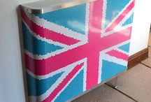 Union Jack radiator covers