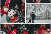 влюбленные зимой в лесу