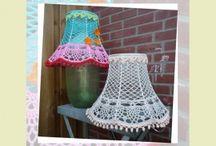 Gehaakte lampenkappen / Patronen & inspiratie voor gehaakte lampenkappen