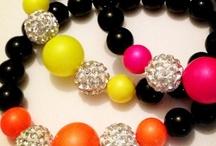 Swarovski Neon / Neon Blast!! Summer is coming!! Make it bright, make it bold and make a statement with gorgeous Swarovski Crystal Pearls, handmade, unique designs xx www.blueapplejewellery.com