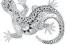 5. Zentangle Tiere