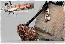 Vakkancs Puli / Mini-sculpture. Bronze keyring and sterling silver pendant. http://www.vakkancs.eu/vakkancs_dogs/puli