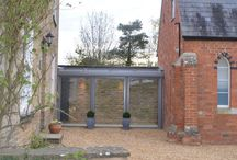 Conservatory and glass walkway
