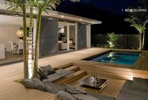 Pool deck/house