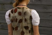 Wet Felted Waistcoats. / A collection of Wet Felted Waistcoats.