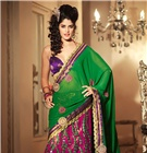 "Fantabulous Lehenga Sarees / Mark your presence in all wedding functions with our all new & stylish range of designer lehenga sarees collection that will make you go WOW!...Order them at FLAT 14% OFF in valentine offer...Use code ""VAL14OFF"" at checkout...Hurry! Avail the unbeatable offer on finest collection before it ends...Check out more at http://www.sareesbazaar.com/Sarees/Lehenga-Sarees-251.html"