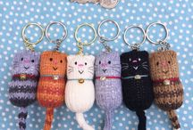 knitted keyring
