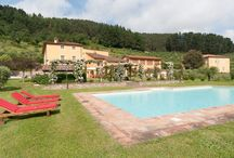 Villa del Fattore, Lucca, Tuscany / Villa del Fattore is a typical Tuscan country home situated in the heart of a poetic Italian landscape surrounded by orchards and olive groves, Italian gardens and tranquil hills.