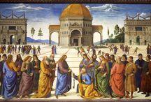 Vroege Renaissance ~ Pietro Perugino / ca. 1448 Città della Pieve - 1523 Fontignano. Schilder uit de Umbrische School. Vermoedelijk leerling van Andrea del Verrocchio en Piero della Francesca. Leermeester van Rafael.
