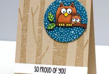 Owl Cards, Boxes Etc