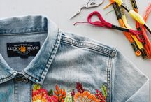 Embrodery denim
