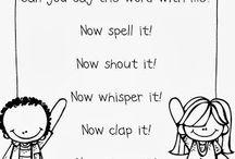 sight words/spelling