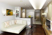 Studio apartment ideas / by Sandra Gaylord