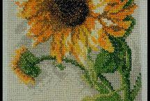 Kwiaty - haft krzyżykowy / flowers, cross-stitch