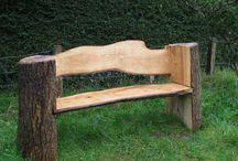 sillas con troncos