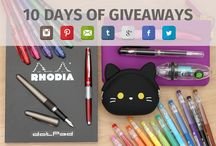 10 Days of Giveaways! / February marks JetPens' 10th anniversary! We want to thank all our friends for supporting us through the years, so let's celebrate with daily giveaways on all our social media sites! Please go to our blog to find out more: http://to.jetpens.com/1EFjyMF / by JetPens
