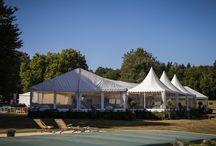 Tented Wedding Receptions / Choisissez de vous marier chez vous sous une tente...