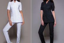 Spa Uniforms: Complete Ensembles / Complete Elegant Spa Uniforms!