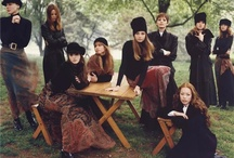 WITCHES All Cast Photoshoot / Fashion- Black, flowy, see through, lace, formal.