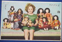 Shirley Temple / Japanese vintage antique postcards