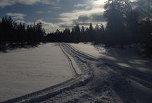 Snow mobile / Vintersport med snøscooter