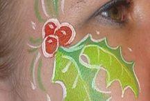 Face paint christmas