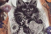 Tattoo : shadows/behind grown