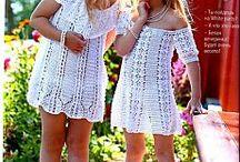 Вязание для детей / Платье белое вязаное крючком