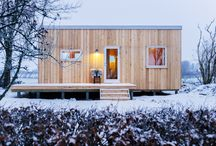Tiny Guesthouse By Helle Bovbjerg / This is my new tiny House, Guesthouse designed by me. Photos by Rebecca Gustavsson. The interior is made from plywood, its 28m2