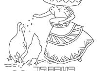 riscos de bordados mexicano