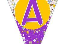 Alfabeto em forma de varal / A salinha vai fica liiiinda com esse varal do alfabeto todo colorido! http://aartedeensinareaprender.blogspot.com.br/2015/01/alfabeto-em-forma-de-varal.html