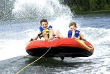 Many watersports you can enjoy with the Wave Boat!