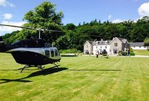 Helicopter Crazy / With a Helipad on site, Kilcamb lodge has some of the greatest Helicopters landing in our grounds!