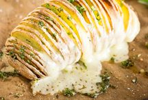 Gefächerte Ofenkartoffel