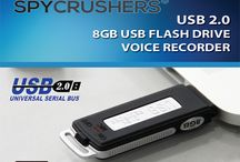 SpyCrushers 8GB USB Flash Drive Voice Recorder / Rechargeable Mini Hidden Pen Drive - New & Improved Digital Audio Recorder That Records While Charging - Simple Plug & Play Functionality No Extra Product Software Needed - 150 Hours Of Continuous Recording Time - Easy to Follow English Operation Manual - 30 Day Money Back Guarantee - By SpyCrushers®