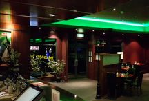 Cool LED Lighting for Restaurant & Bar / Restaurant & Bar LED Lighting. Product used: LED Warehouse Green LED strip Lights Project Done by Jagger & Co