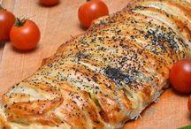 feuilleté tressé courgettes tomates mozza jambon de parme