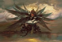 A glimpse inside Peter Mohrbacher's Angelarium / Peter Mohrbacher is an artist whom has come from the video game and concept art industries and since gone rogue doing a passion project of his very own. His work finds inspiration from multiple angel mythologies which he first stumbled across in 2005. It's safe to say that Peter hasn't looked back since and in doing so unleashes the mesmerizing body of work he calls Angelarium.