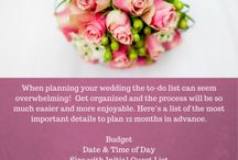 Tips From Our Wedding Coordinator / Our wedding coordinator has seen it all!  She has a lot of valuable insite to share from the small things to the BIG things!