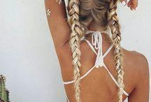 Bohemian-Coachella-Festival style=Make up a Hair Styles