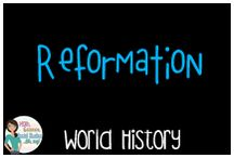 World History:  Reformation / Educational Resources on the Reformation