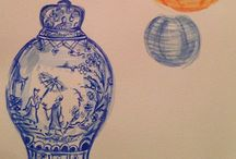 Chinoiserie Land {watercolors} / My Favorite Original Creations!