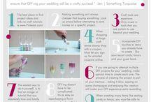 DIY Wedding Ideas / A mood board sharing ideas for DIY cost-saving wedding decoration ideas